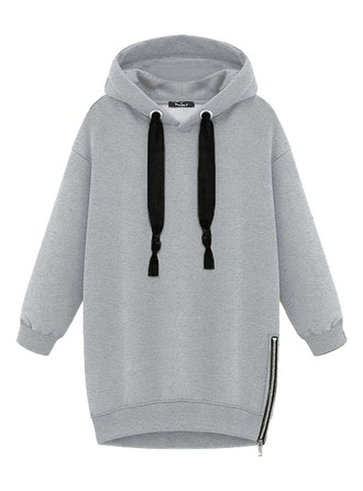 Plain Polyester Hoodie ()