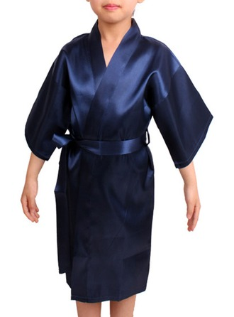 Fillette Polyester avec Longueur genou Robes de satin Robes de fille