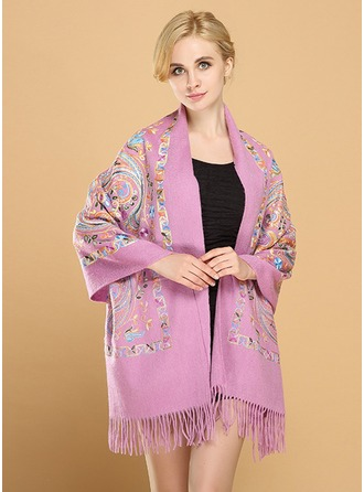 Floral Light Weight/Oversized Wool Scarf
