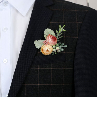 Low-key Free-Form Cloth Boutonniere - Boutonniere