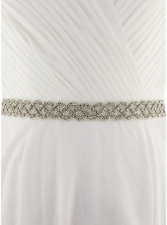 Gorgeous/Exquisite Satin Sash With Beading/Alloy/Rhinestones