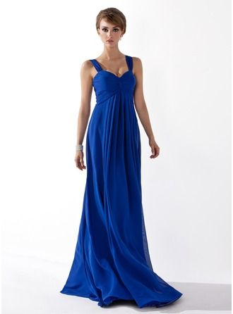 Empire Sweetheart Floor-Length Chiffon Prom Dress With Ruffle