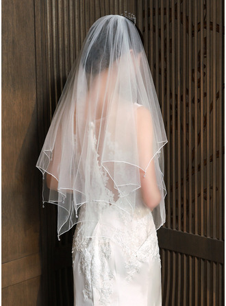 Two-tier Elbow Bridal Veils