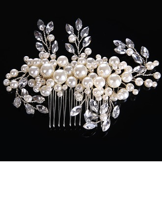 Ladies Elegant Alloy/Imitation Pearls Combs & Barrettes