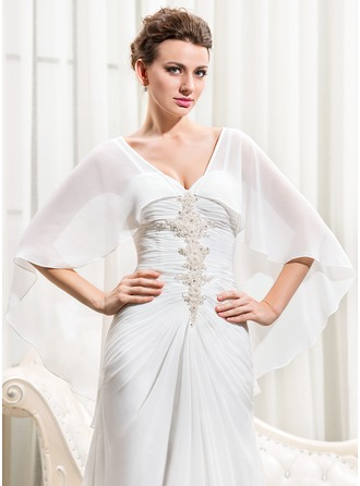 3/4-Length Sleeve Chiffon Wedding Wrap