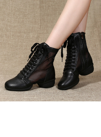 Women's Leatherette Mesh Boots Sneakers Modern Jazz Sneakers Dance Boots Dance Shoes