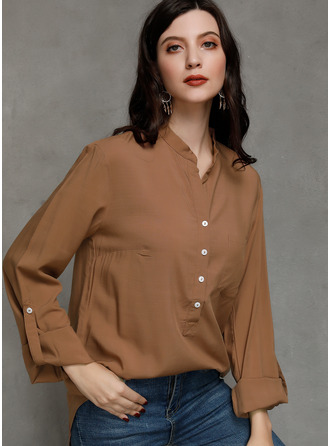 Long Sleeves Polyester V Neck Halenky
