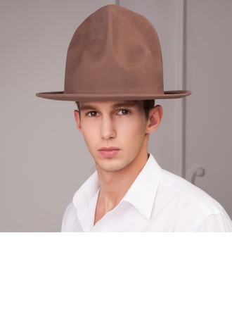 Men's Fashion Autumn/Winter Wool With Bowler/Cloche Hat