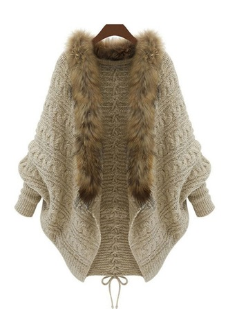 Plain Knit Cardigan Kazak