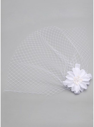 One-tier Birdcage Veils With Artifical Silk
