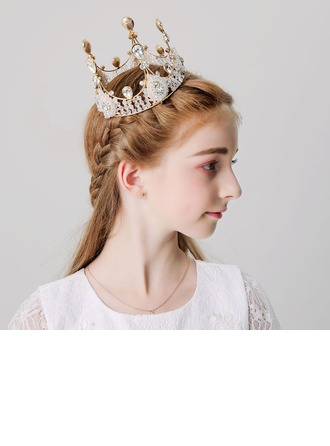 With Rhinestones Tiaras (Sold in a single piece)
