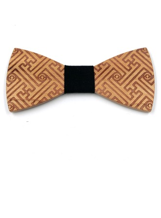 Classic Vintage Wood Bow Tie