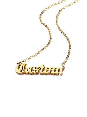 Custom 18k Gold Plated Name Name Necklace -
