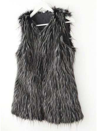 Faux Fur Sleeveless Shearling Coats ()