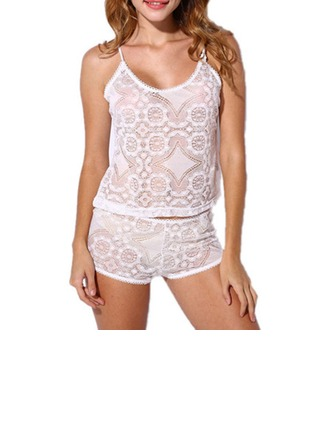 Lace/Polyester Sexy Bridal/Feminine Lingerie Set
