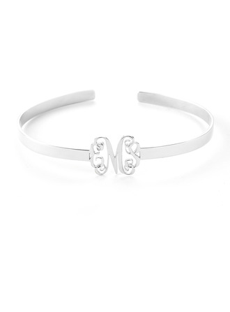 Christmas Gifts For Her - Custom Platinum Plated Sterling Silver Statement Bangles & Cuffs