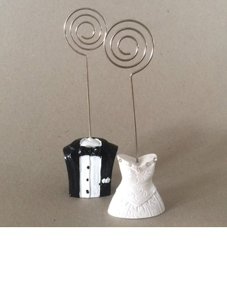 Tuxedo & Gown Resin Place Card Holders With Rhinestone