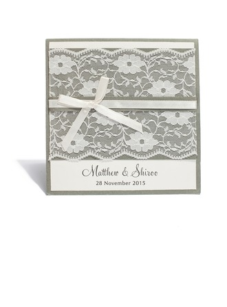 personalisé Style moderne Pli horizontal Invitation Cards