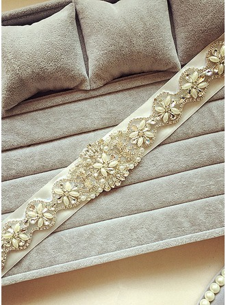 Unique Ribbon Sash With Crystal/Rhinestones