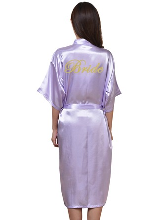 Personalized Polyester Bride Glitter Print Robes