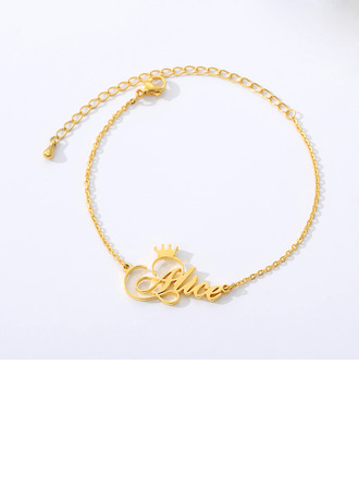 Custom 18k Gold Plated Name With Crown -