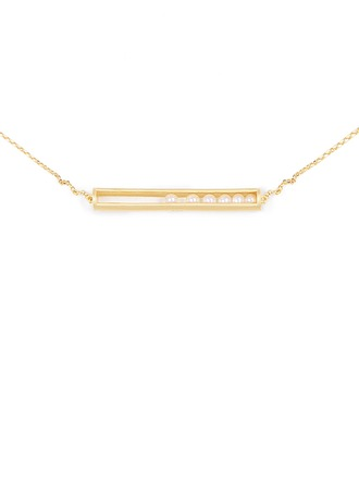Silver Pearl/Beaded Bar Pearl Necklace For Women For Girlfriend For Girl