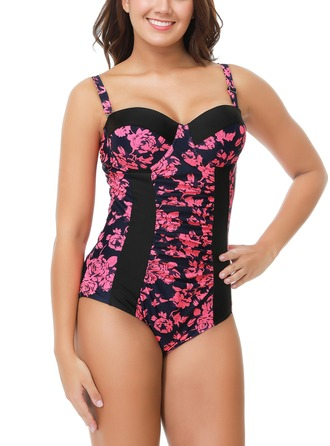 Fashional Print Nylon One-piece Swimsuit