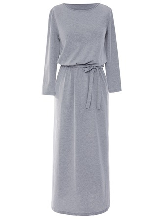 Polyester With Stitching Maxi Dress