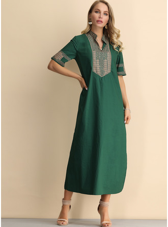 Cotton Blends Maxi Dress