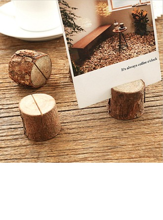 Simple Wood Card Holders (Set of 10)