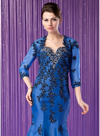3/4-Length Sleeve Organza Special Occasion Wrap