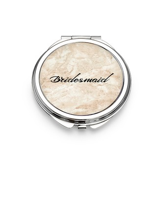 Bridesmaid Gifts - Personalized Elegant Eye-catching Stainless Steel Compact Mirror