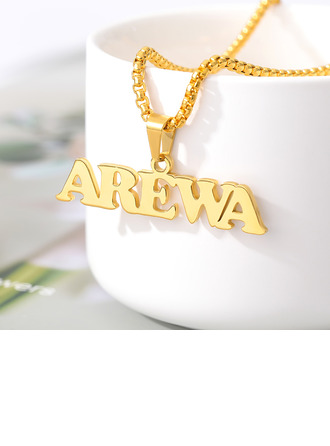 Custom 18k Gold Plated Name Name Necklace Pendant Necklace -