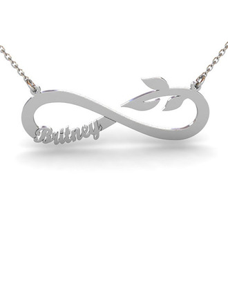 Custom Silver Infinity Name Name Necklace Pendant Necklace -