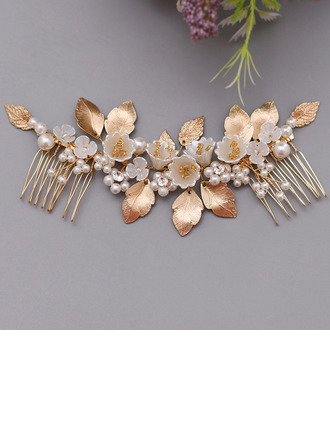 Ladies Gorgeous Alloy/Imitation Pearls/Resin Combs & Barrettes With Venetian Pearl (Sold in single piece)