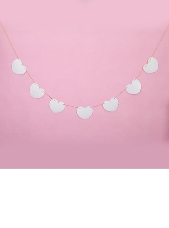 Solid Color Heart Design Sponge Photo Booth Props/Banner
