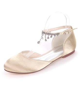 Women's Silk Like Satin Flat Heel Flats