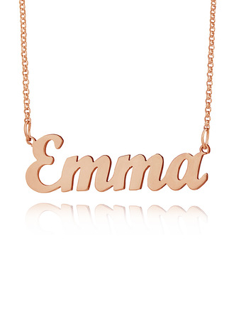 [Free Shipping]Custom 18k Rose Gold Plated Letter Name Necklace - Birthday Gifts (288217712)