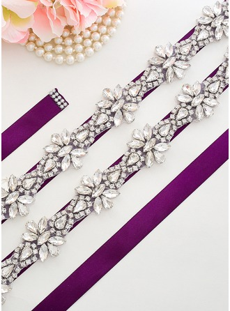 Gorgeous Satin Sash With Rhinestones