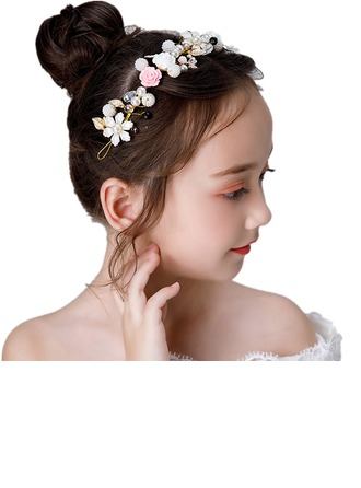 Alloy/Crystal With Flower Headbands