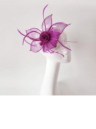 Dames Fantaisie Feather/Fil net avec Feather Chapeaux de type fascinator