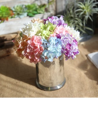 10.5'' Hydrangea Silk Silk Flowers (Set of 2)