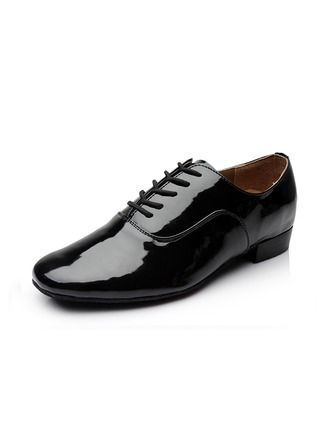 Men's Leatherette Sneakers Ballroom With Lace-up Dance Shoes