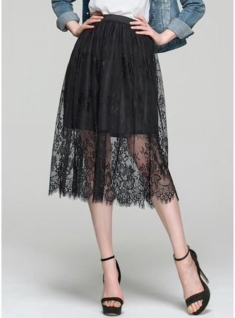 A-Line/Princess Knee-Length Lace Cocktail Skirt