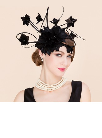 Dames Charme Batiste avec Feather Chapeaux de type fascinator