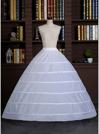 Women Satin Floor-length 1 Tiers Bustle