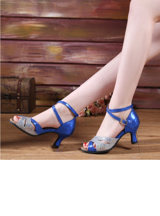 Women's Leatherette Sparkling Glitter Heels Latin Dance Shoes