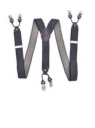 Personalized Classic Polka Dot Y-Back Clip-On Adjustable Polyester Leather Suspenders