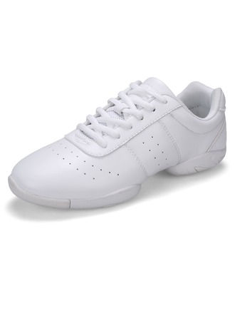 Women's Leatherette Flats Sneakers Sneakers With Lace-up Dance Shoes