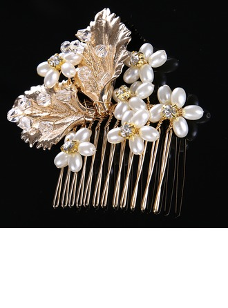 Ladies Classic Alloy/Imitation Pearls Combs & Barrettes